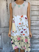 Apricot Casual Floral Shift Dresses
