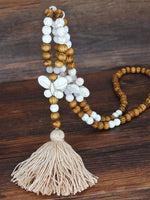 Bohemian clothing pendant tassel sweater necklace