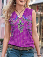 Women's Casual Print & Embroidery T-Shirt