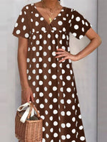 Casual Polka Dot Dress