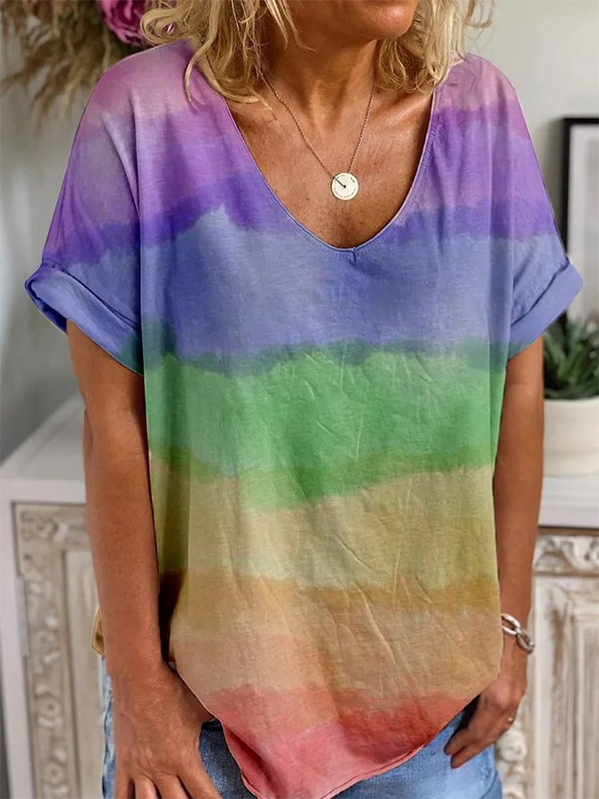 Color1 Short Sleeve Casual Shirts & Tops