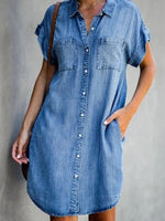 Casual & Washed Denim Shirt Dress
