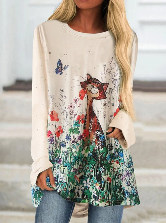 Printed Casual Sweater