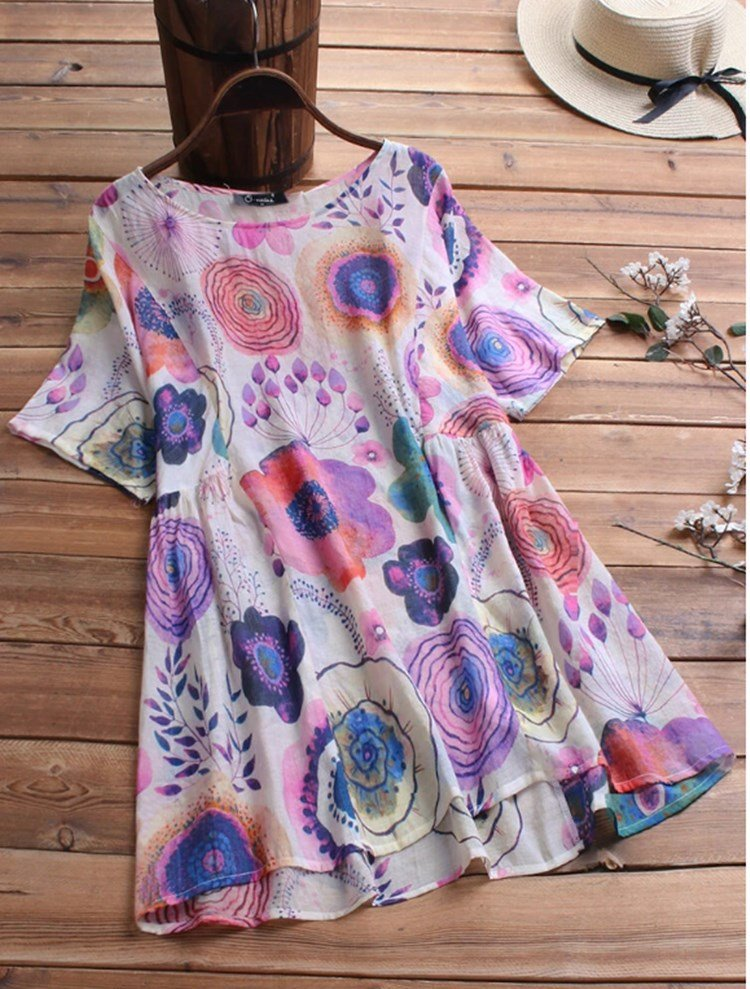 Casual Print Dress