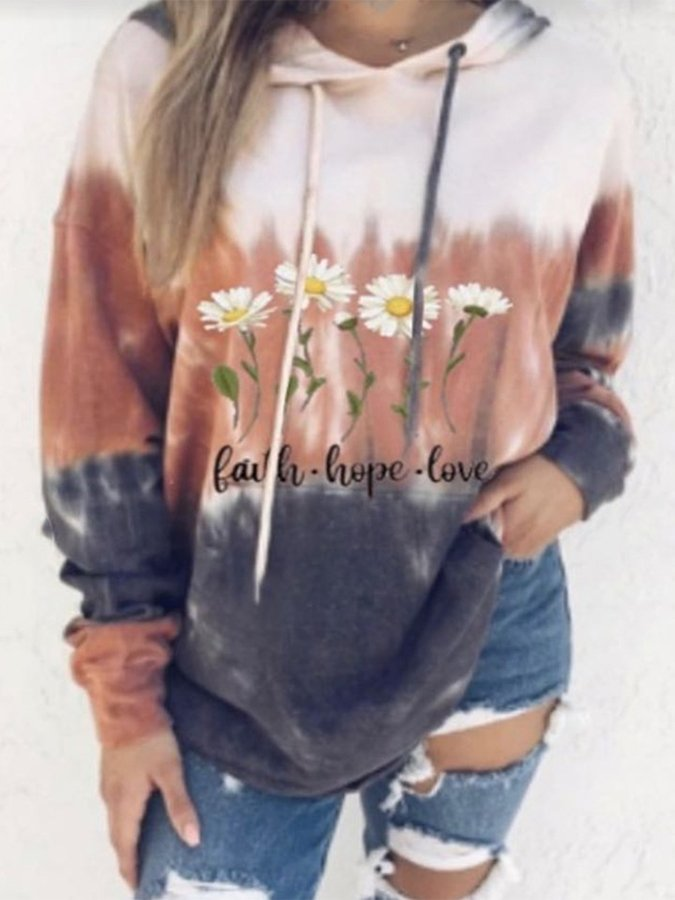 Long Sleeve Shift Floral Sweatshirt