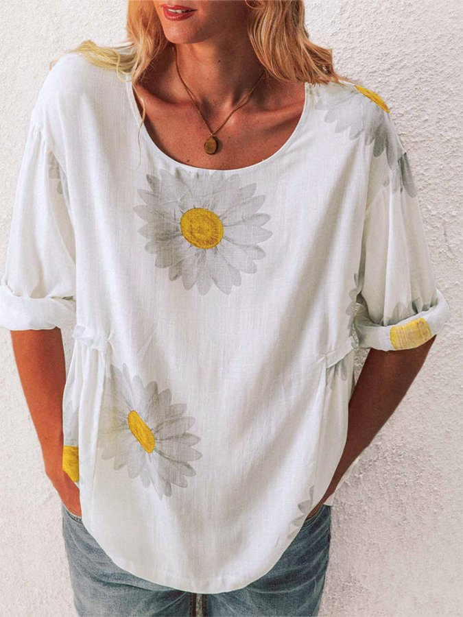 Daisy Casual Print Top