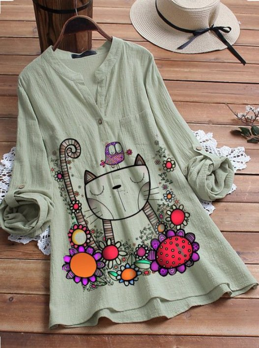 Casual Printed long Shirt