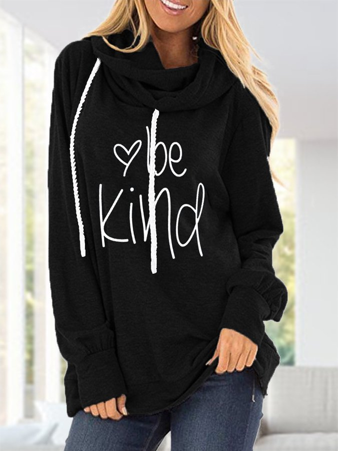 Printed Long Sleeve Casual Hoodie Shirts & Tops