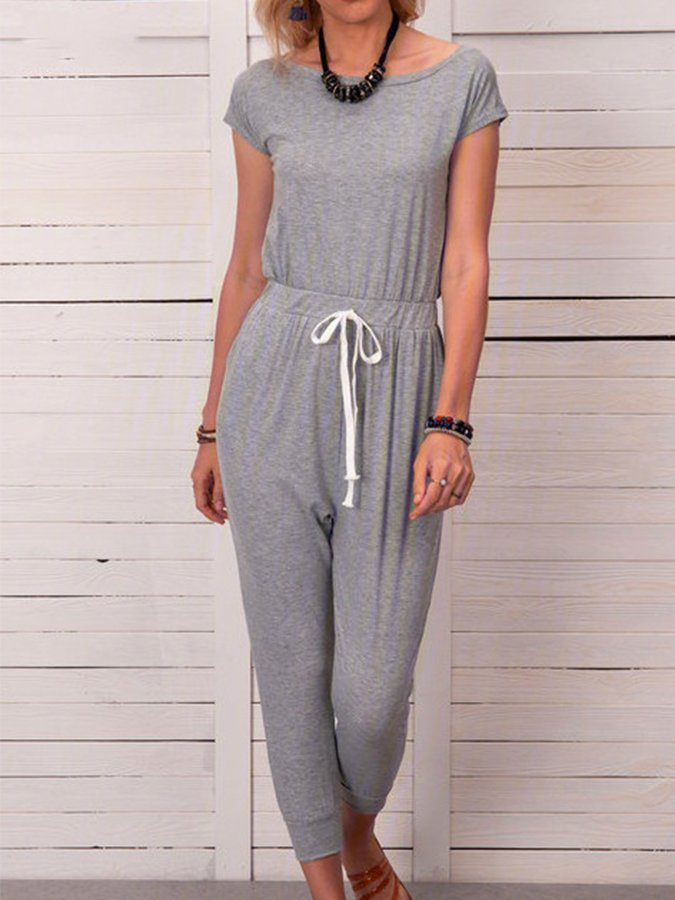 Sports & Leisure Drawstring Jumpsuit