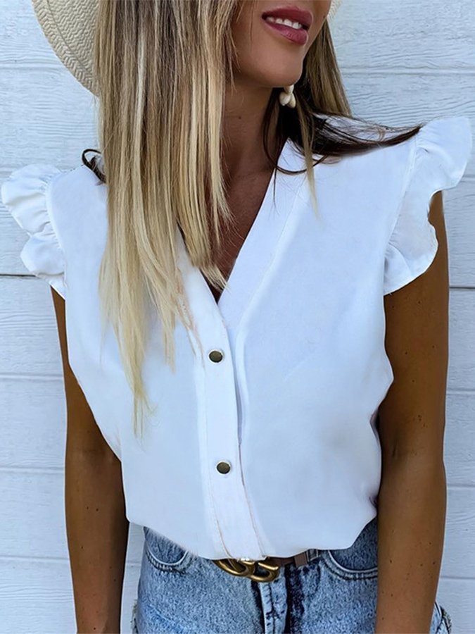 Sleeveless Cotton Shirts & Tops