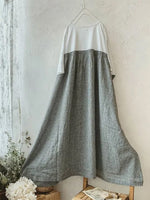 Stitching Casual long Skirt