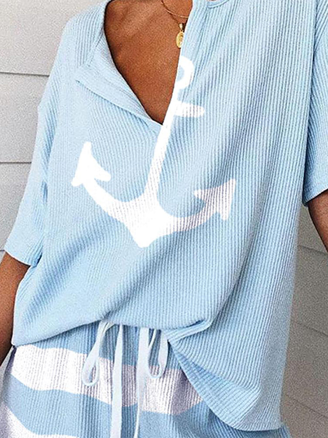 Summer Short Sleeve Shift Suits
