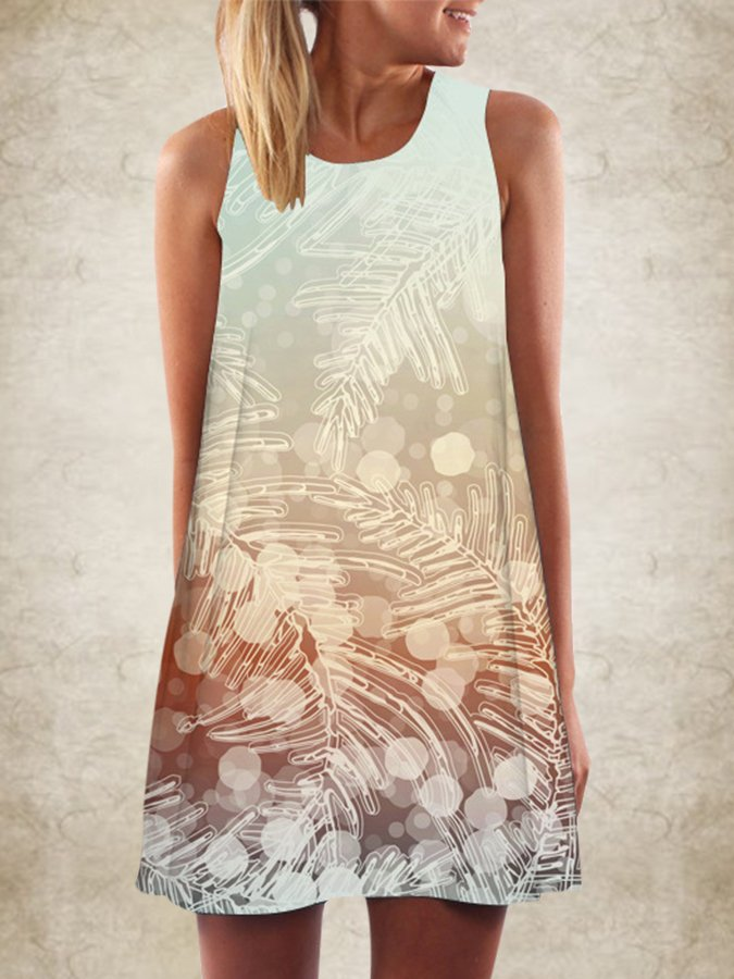 Casual Printed Animal Shift Dresses