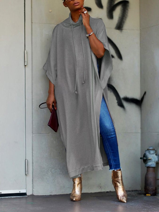 Shift Crew Neck Cotton Batwing Dresses