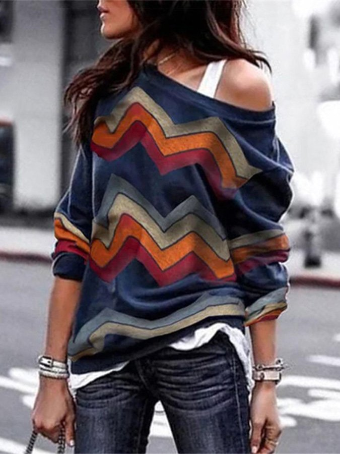 Casual Long Sleeve Loose Top