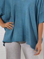 Solid Color Casual V-neck T-shirt