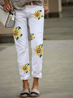 Plus size Sunflower Printed Pants