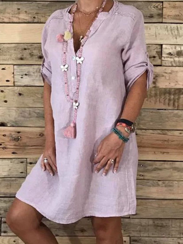 Half Sleeve Casual Dress