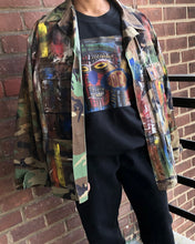 Load image into Gallery viewer, Hand Painted Vintage Abstract Camo Jacket