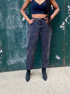 Vintage Dark Grey Lee Mom Jeans