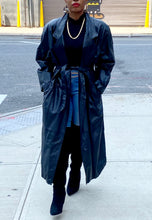 Load image into Gallery viewer, Vintage Long  Leather Belted Coat