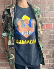 "Load image into Gallery viewer, Black Vintage Inspired ""Queendom"" Graphic Tee"