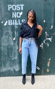 Vintage Retro Washed Mom Jeans