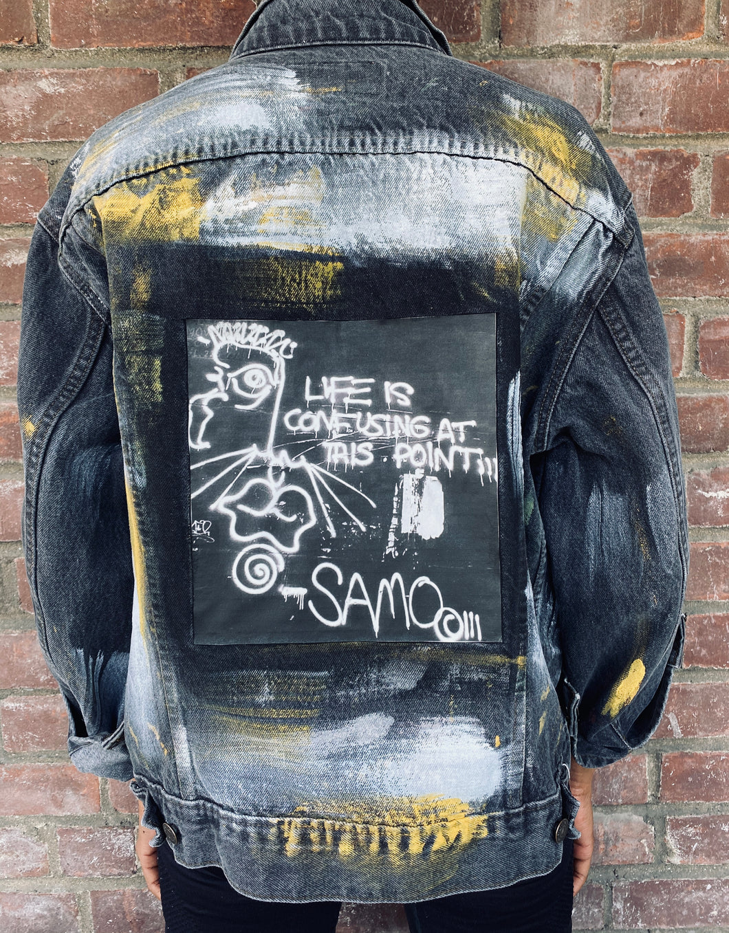 Hand Painted Basquiat Inspired Vintage Levis Denim Jacket