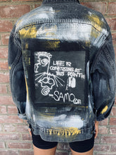 Load image into Gallery viewer, Hand Painted Basquiat Inspired Vintage Levis Denim Jacket