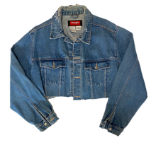 Load image into Gallery viewer, Vintage Cropped Distressed Wrangler Jacket