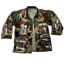 Load image into Gallery viewer, Vintage Hand Painted Saved by Grace Camo Jacket