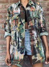 Load image into Gallery viewer, Hand Painted Basquiat Inspired Vintage Camo Jacket