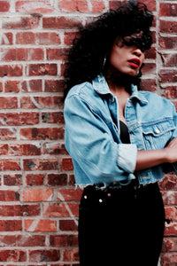 Vintage Cropped Distressed Wrangler Jacket