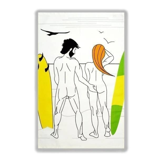 Plunging Breaker Tea Towel