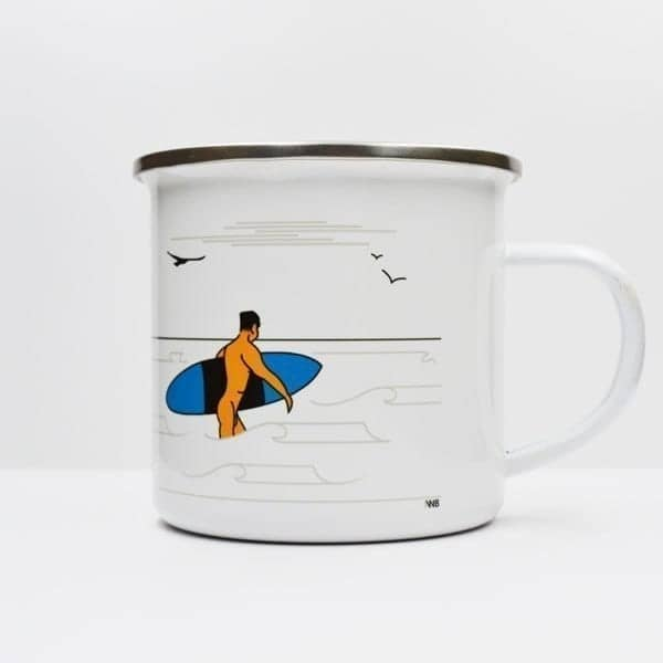 Blow Out Enamel Mug