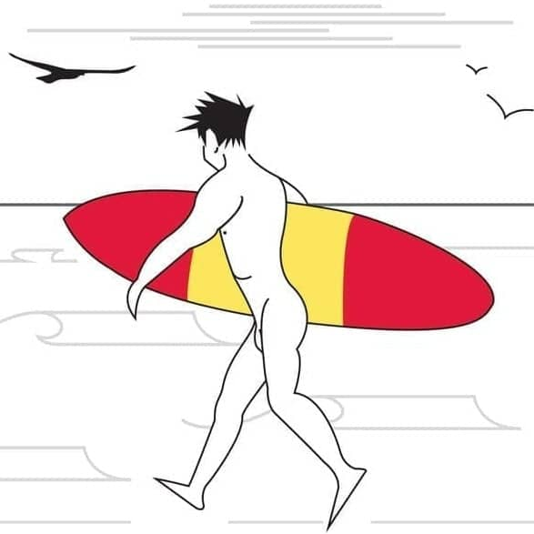 The Naked Surfers-Board Stiff- Luxury Print