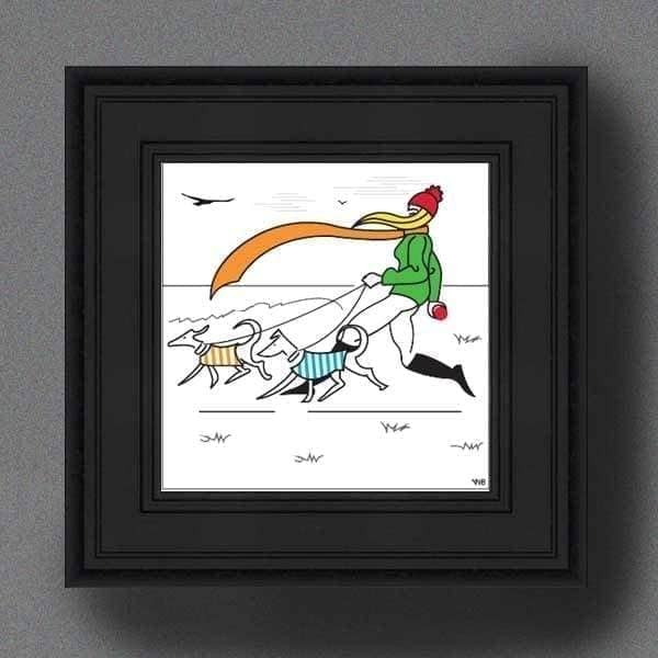 The Dog Lovers Scene 1 - Framed Print