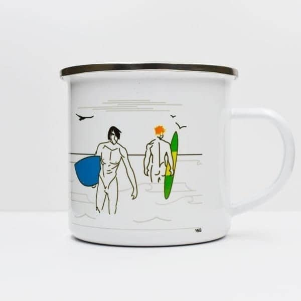 Big Blue Enamel Mug
