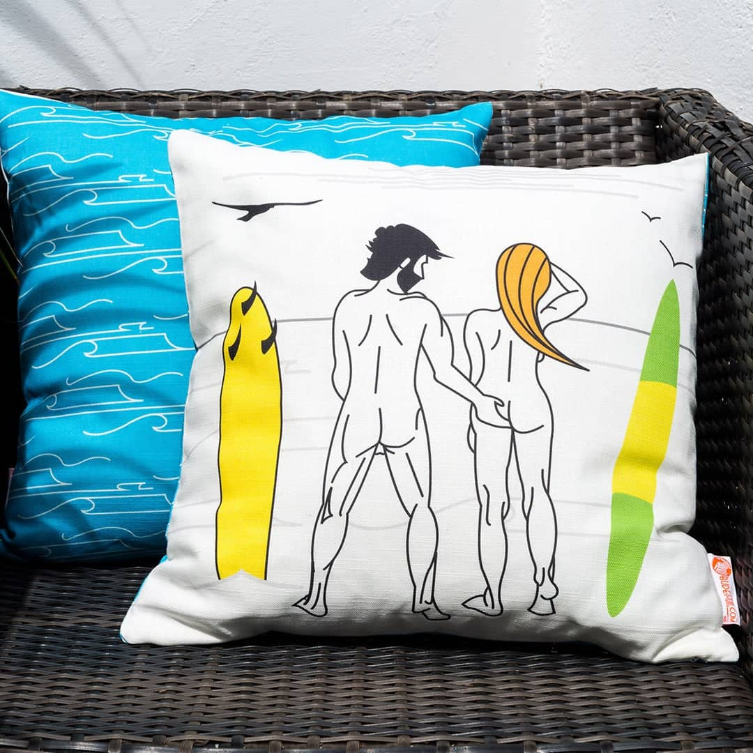 Cushion Cover Bundle-Naked Surfers