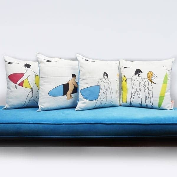 Naked Surfers Cushion Bundle
