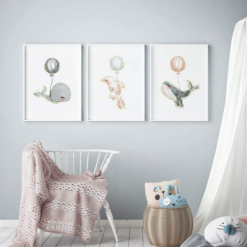 Beautiful Whales | Pompom Prints