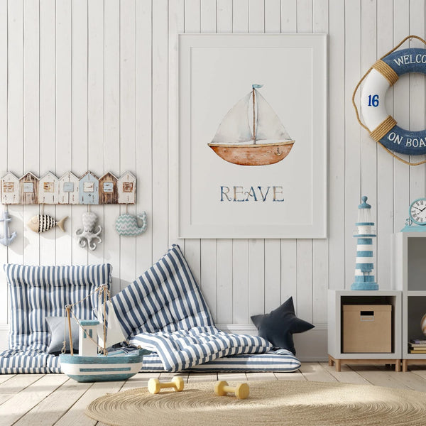 nautical seaside nursery wall art