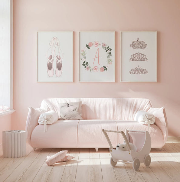 Ballerina Nursery Wall Art