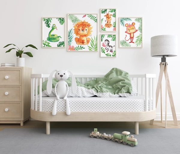 safari jungle nursery wall art