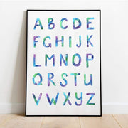 Alphabet - Blue - Pompom Prints