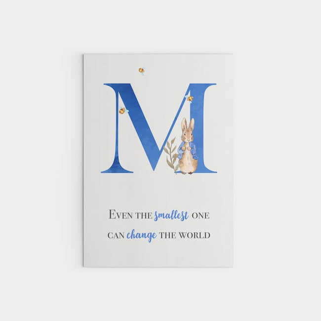 Peter Rabbit - Blue Personalised Letter, Change the World
