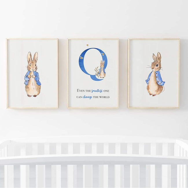 Peter Rabbit - Blue Personalised Letter, Change the world (3 Set)