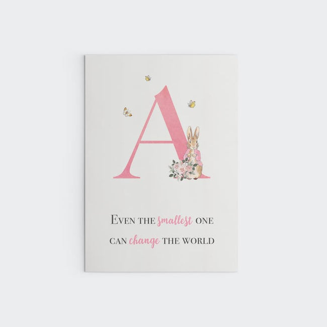 Peter Rabbit - Pink Personalised Letter, Change the World