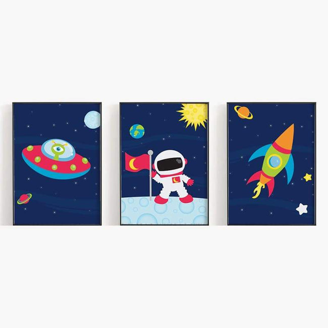 Space - 3 Set (Spaceship, Astronaut, Rocket)