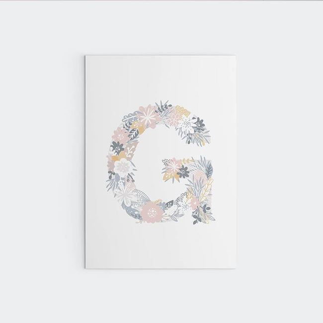Unicorn Flowers - Alphabet